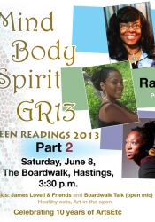 Green Readers this time around were multi-artist Deanne Kennedy, young emerging poet Racquel Griffith, and actress/theatre director Sonia Williams.