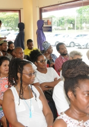 A good crowd at UWI Bookshop for the August 19, 2017, launch of The ArtsEtc NIFCA Winning Words Anthology 2015/2016.