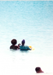Oistins • small group in the water