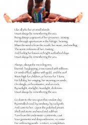 Bev  .  Hannah  .  Shelly  .  little girl on beach w/Colly poem