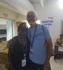 Nailah Folami Imoja (Charmaine Gill) and Andy Taitt at Carifesta XIII in Barbados, 2017.