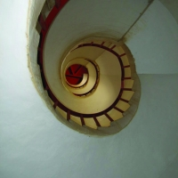 Interior of North Point lighthouse, St. Lucy, Barbados by Cosmo Corbin